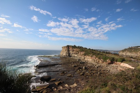Terrigal Skillion, on right, looking to North Avoca and Avoca