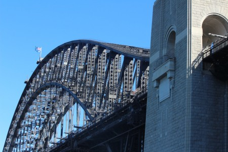 Looking up at the magnificent bridge..I did Bridge Climb a long time ago!
