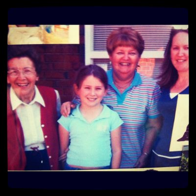 """last"" Mother's Day in 2006. Mum, my eldest GD, me, and my DD."